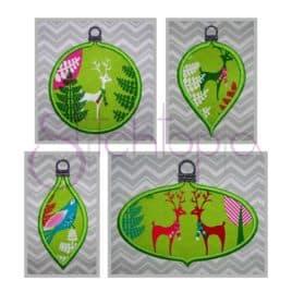 Christmas Ornament Applique Design Set