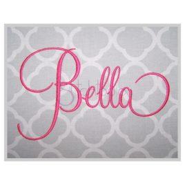 Bella Embroidery Font Set – 1″ 1.5″ 2″ 3″ 4″