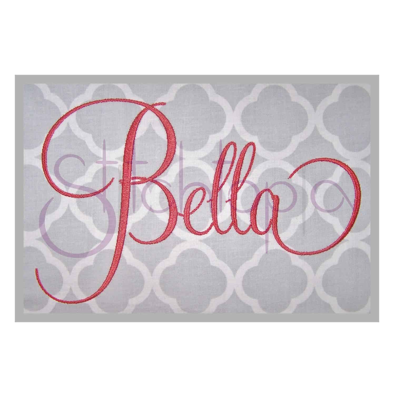 Bella Embroidery Font Set - 5
