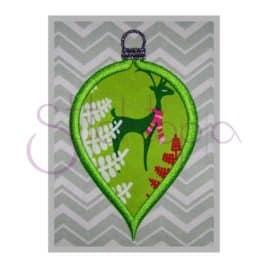 Christmas Ornament Applique Design – Bulb