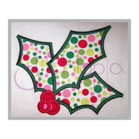 Stitchtopia Christmas Holly Applique c