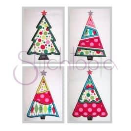 Christmas Tree Applique Design Set