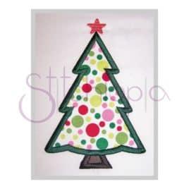 Christmas Tree Applique Design – Plain