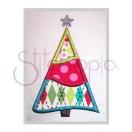 Christmas Tree Applique Design – Curvy