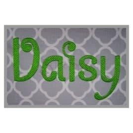 Daisy Embroidery Font Set – 3″ 4″ 5″ 6″