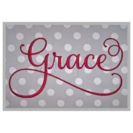 grace script embroidery font