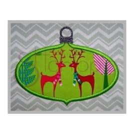 Christmas Ornament Applique Design – Oval