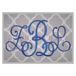 Phoebe Monogram Font – 5″, 6″, 7″