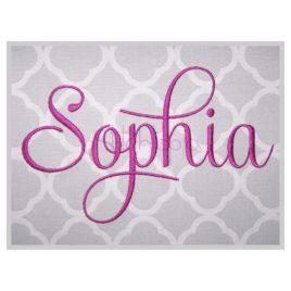 Sophia Embroidery Font Set – 1″ 1.25″ 1.5″ 2″ 3″