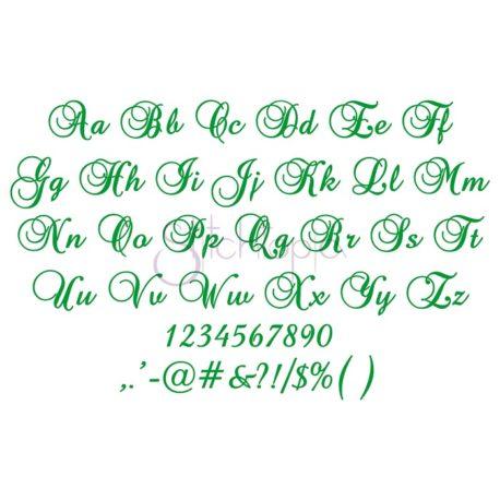 Stitchtopia Swirl Script Embroidery Font - All Letters