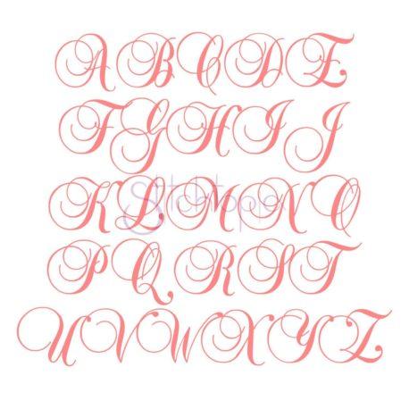 Stitchtopia Swirl Script Monogram Set All Letters