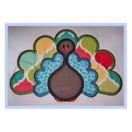 Thanksgiving Turkey Applique Design