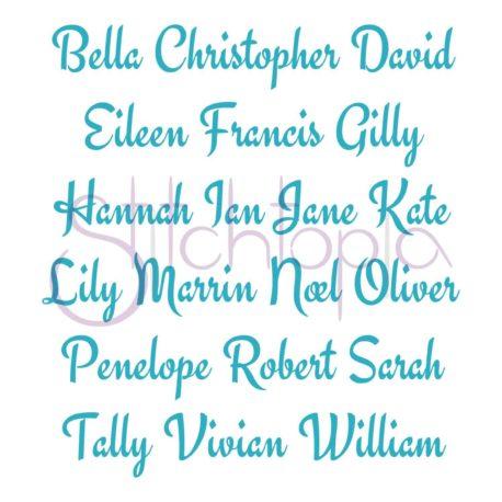 Stitchtopia Aubrey Monogram Set Names