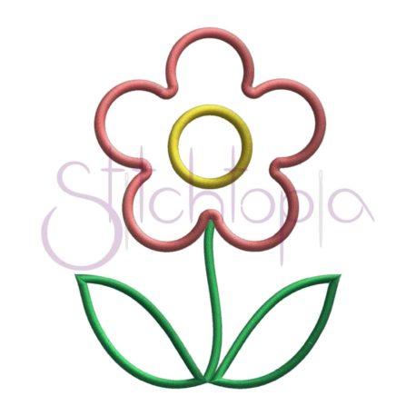 Stitchtopia Spring Flower Applique