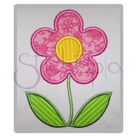 Spring Flower Applique Design