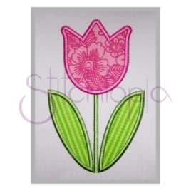 Spring Tulip Applique Design