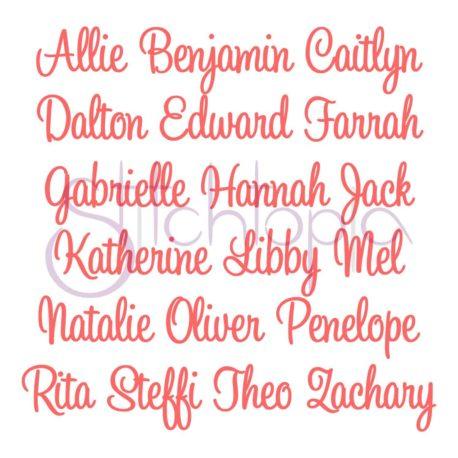 Stitchtopia Charlotte Monogram Set Names