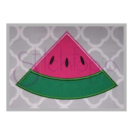 Stitchtopia Watermelon Wedge Applique b
