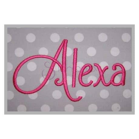 Alexa Machine Embroidery Font
