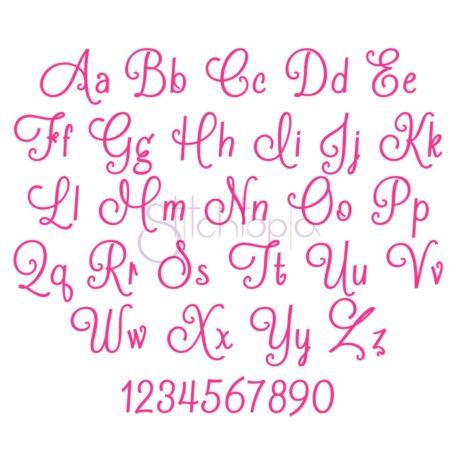 Stitchtopia Alexa Monogram Set All Letters a