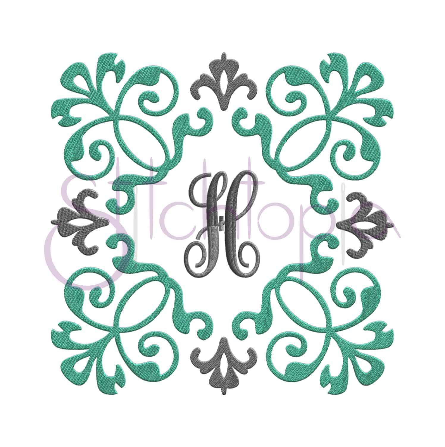 Monogram Frame Designs For Digital Machine Embroidery Stitchtopia