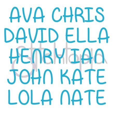 Stitchtopia Gage Monogram Set Names