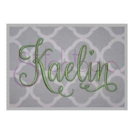 Kaelin Embroidery Font #2 – 1″ 2″ 3″