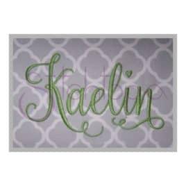 Kaelin Embroidery Font #2 – 4″ 5″ 6″