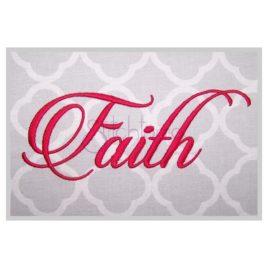 Faith Embroidery Font #1 – 1″ 1.25″ 1.5″ 2″ 3″