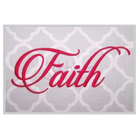 Stitchtopia Faith #1 Embroidery Font