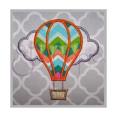 Stitchtopia Hot Air Balloon Applique b