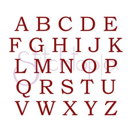 Stitchtopia Tweed Monogram Set All Letters b