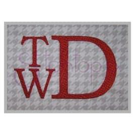 Tweed Embroidery Monogram Font