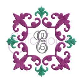 Vintage Damask Embroidery Frame