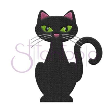 Stitchtopia Black Cat Embroidery Design