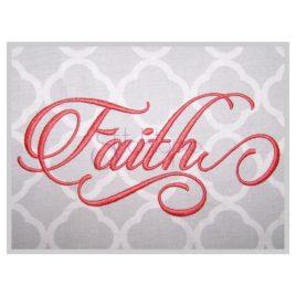 Faith Embroidery Font #2 – 4″, 5″, 6″