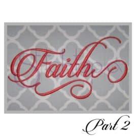 Faith Embroidery font