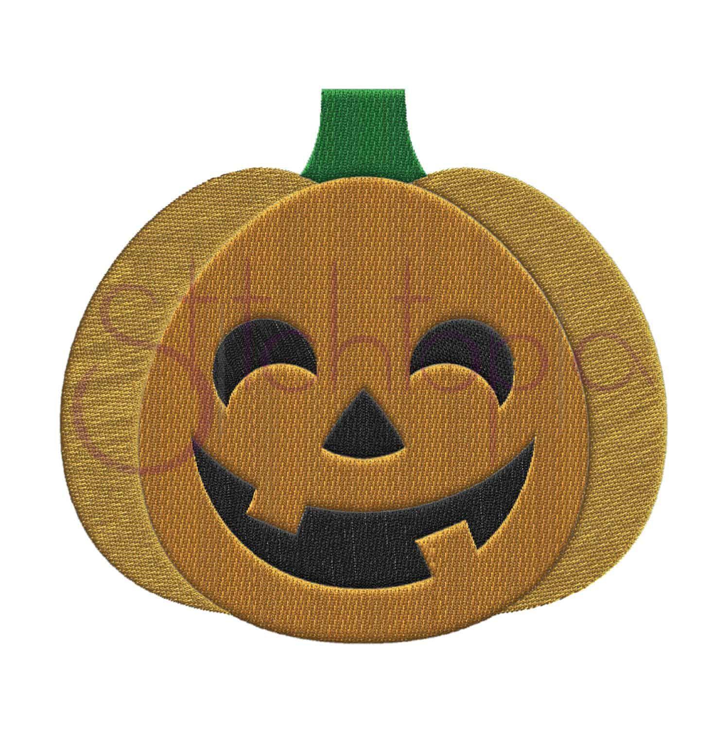 halloween jack o u0027 lantern embroidery design 1 stitchtopia