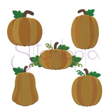 Stitchtopia Pumpkin Embroidery Design Set
