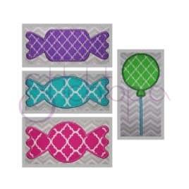 Candy Applique Design Set