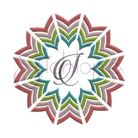Stitchtopia Chevron Arrow Flower Frame with Faith 1 Monogram Set