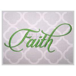Faith Embroidery Font #3 – 1″ 1.25″ 1.5″ 2″ 3″