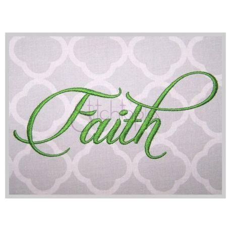 Stitchtopia Faith #3 Embroidery Font