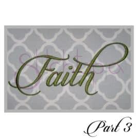 Faith Embroidery Font #3 – 1″, 2″, 3″
