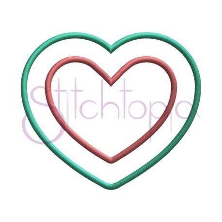 Stitchtopia Heart Applique Frame 2 Fabric