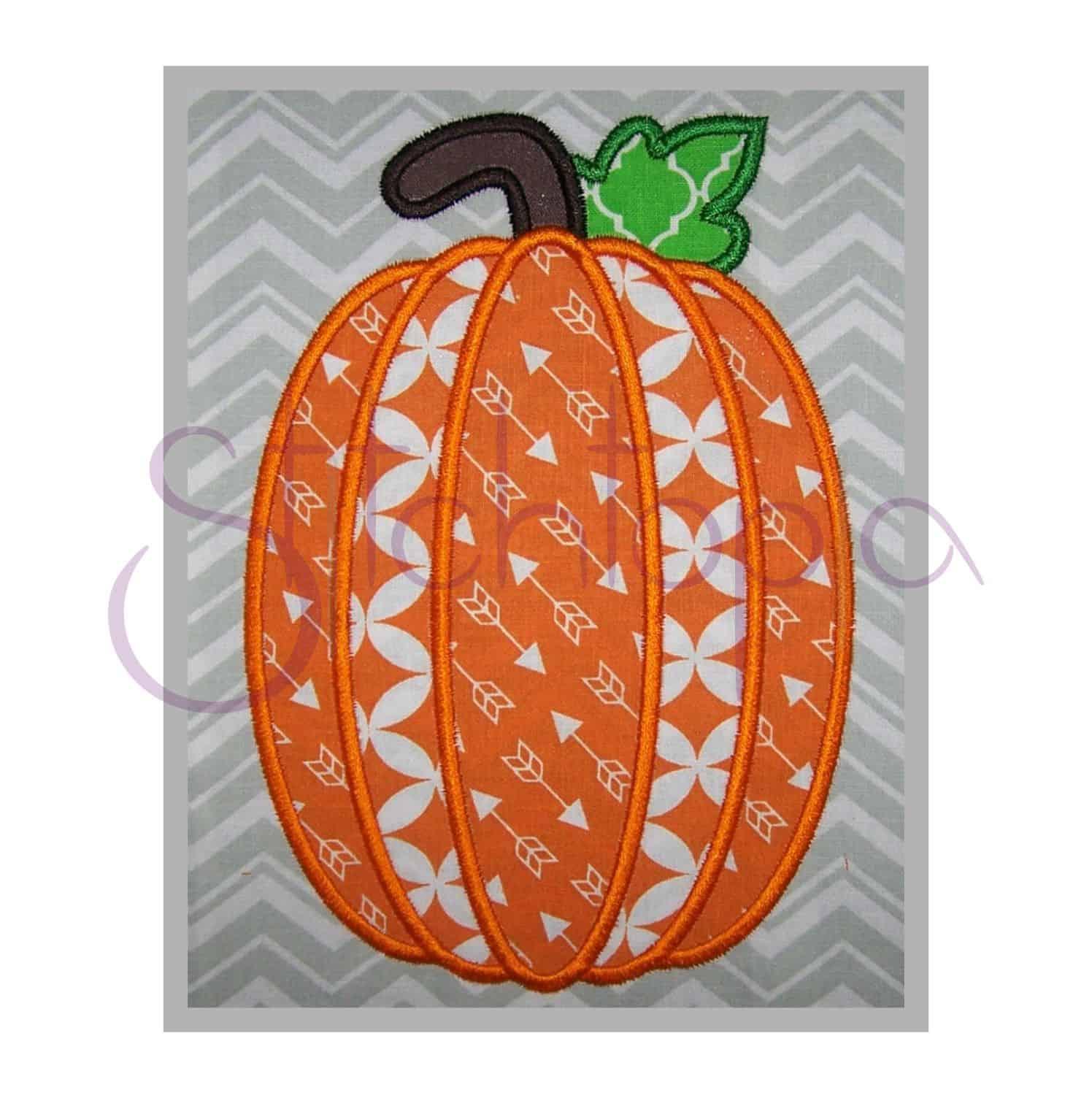 Pumpkin applique design 2 stitchtopia for Appliques design