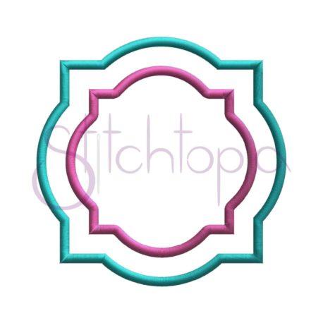 Stitchtopia Quatrefoil Applique Frame 2