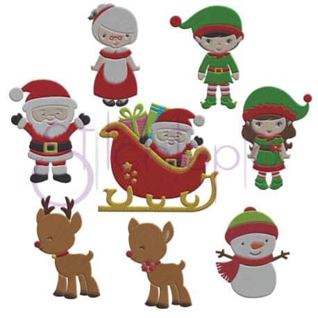 Stitchtopia Christmas Embroidery Design Set