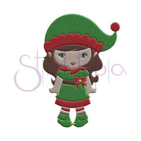 Stitchtopia Elf Girl Embroidery Design