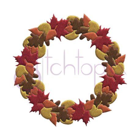 Stitchtopia Fall Leaves Wreath Frame